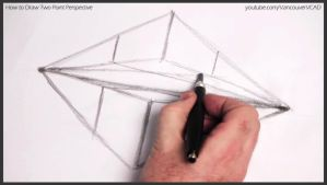 How to draw two point perspective 007 by drawingcourse