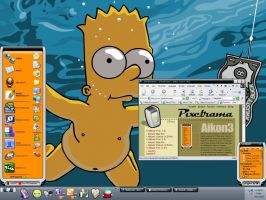 Desktop Bart and Orange by juzmental