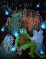 Leonardo and the spirits by ralloonx