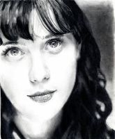 Oh Zooey - Black and White by UnInfinitum