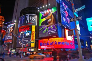 Busy Streets of Times Square by greycookievomit-yum