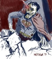 Zombie Superman by mothbot