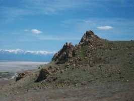 Rock formation, Antelope Island by Raptorguy14