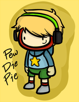 PewDiePie Scribblenauts: Unlimited (Fan Art) by Cramuccino