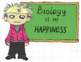 My teacher of biology by TeiSsoN