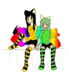 Collab: Pillows and Socks by Lexial-XIII