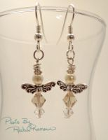 Pearl and Crystal Angel Earrings 51 by TheSortedBead