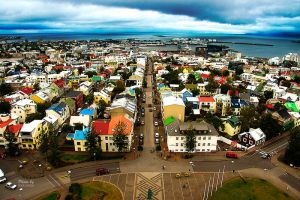Reykjavik from the high by MakMiles