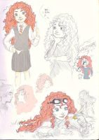 sketching Merida by mimera