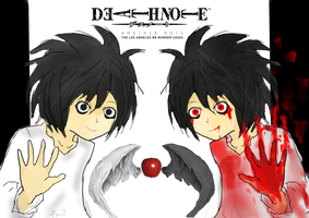 DEATHNOTE(AnotherNote: Los Angeles BB murder case) by monochromevoicestory