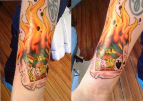 one eyed jack on fire by HowComeHesDead