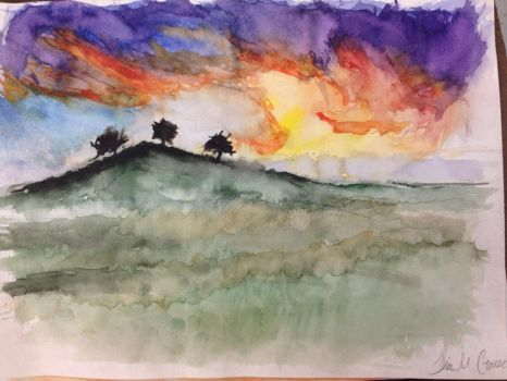 Random Watercolor Painting by TheDrumMajor