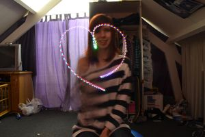 First attempt making a heart with lights by MollyMotions