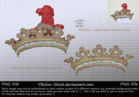 Crown with lion by YBsilon-Stock
