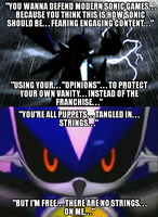 No Strings on Metal Sonic by Psyco-The-Frog