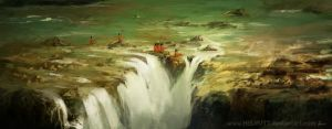 Concept WaterFall sketch by HELMUTTT