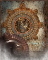 Steampunk Clock Background 2 by Elle-Arden
