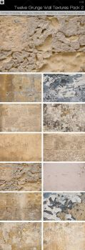 12 Grunge Wall Textures Pack 2 by HollowIchigoBanki