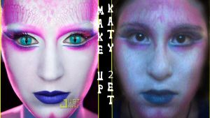 Make up Katty Perry - E.T by ArantxaCosplayer