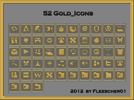 Gold_Icons + PNG by Fleescher01