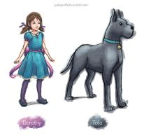 Dorothy and Toto by paloStark