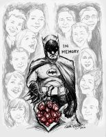 Batman Remembers the Fallen in Colorado by hoganvibe