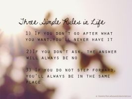 3 Simple Rules by xxFiveWords