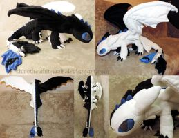 Ryden (Night Fury OC) plush by ShiroTheWhiteWolf