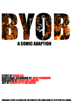 B.Y.O.B. A graphic Novel Class Project Title Page by Masque-De-Mort