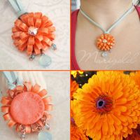 Marigold Pendant Necklace by popnicute
