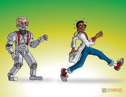 Urkel and his Urkelbot by 25thPixel