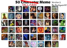 50 Villains Meme Part 2 by Duckyworth