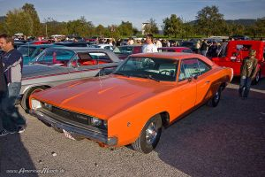 orange 68 Charger by AmericanMuscle