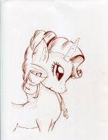 Charcoal Practice with Rarity by gigandjett