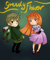 Collab - Greedy Flower by baranot3nshi