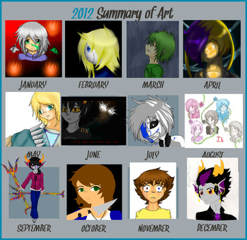 Art summary of 2012 by yume-soul210