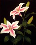 Lilies Canvas by SushiSprinkles