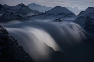 Rivers of Clouds at Moonlight by RobertoBertero