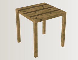 Minecraft - Workshop and Wine: Wooden Table by NeonLugia