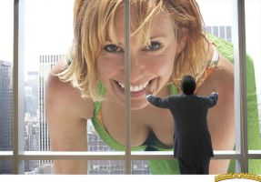 Giantess Kari Byron window by lowerrider