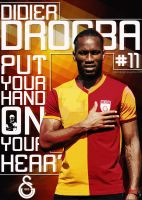 Didier Drogba - Poster by ozturkdesign