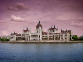 The parliament of Hungary by bensalamin