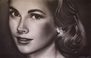 Grace Kelly Face by NeilMartinWilliams
