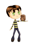 Chibi Tony and Owl by JuliaToffy