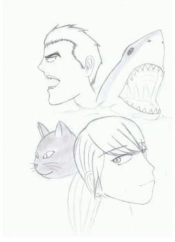 Cats and Sharks by Ibliss-Studios