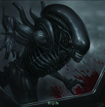 Alien: covenant fan art - 'RUN' by the6829