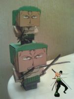 Roronoa Zoro Cubee Finished by rubenimus21