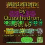 QH-Medallions-Colorful-Irregular-Sizes-Set#5 by quasihedron