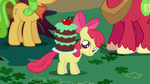 Apple Bloom with cake on back by ShelltoonTV