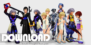 {Request} Kingdom Hearts pose pack - DL by Kingdom-Hearts-Realm